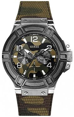 c5b58a1f631 Amazon.com  Guess Rigor W0407G1 Mens Wristwatch Solid Case  Watches
