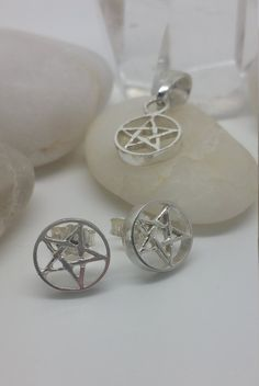 Pentacle Pendant & Earrings
