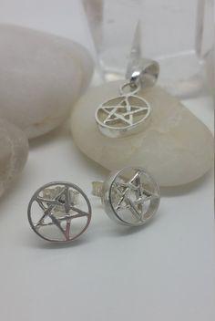 Pentacle Pendant & Earrings