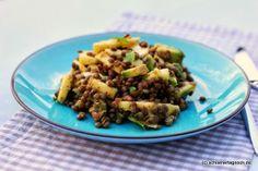 Schöner Tag noch!: Avocado-Apfel-Salat mit Puy-Linsen, Chili und frischer Minze