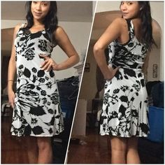 White and Black Floral Dress White and Black Floral dress. Size small. Dress is lined. Karen Kane Dresses Mini