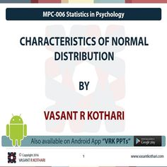 MPC-006-03-01 CHARACTERISTICS OF NORMAL Distribution