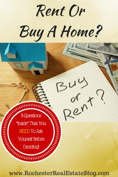 Should I Continue To Rent Or Buy A Home - 8 Questions That You NEED To Ask Yourself Before Deciding! http://www.rochesterrealestateblog.com/should-i-continue-to-rent-or-buy-a-home/ via @KyleHiscockRE #realestate #homebuying #renting
