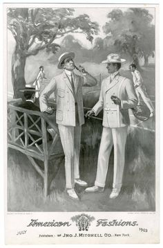 Tennis wear, fashion plate July 1903.