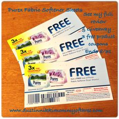 Purex Fabric Softener Sheets Review & #Giveaway #ad ends 8/31 at 11:59pm EST