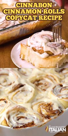 Cinnabon Cinnamon Roll Copycat Recipe will make you take a second thought, can it really be that good? A sweetened roll with a thick cinnamon-sugar filling and a cream cheese frosting that you are likely to remember long after the cinnamon roll is gone! Baking Recipes, Dessert Recipes, Lunch Recipes, Healthy Recipes, Dinner Recipes, Breakfast Recipes, Keto Recipes, Cinnamon Roll Recipes, Homemade Cinnamon Rolls