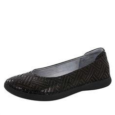 Alegria Petal Ballet Flat in Black Dazzler | Alegria Shoes