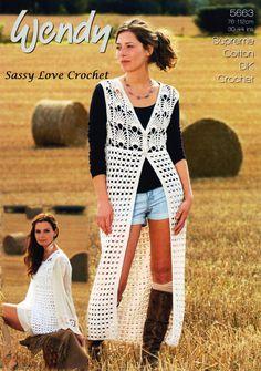 Designer Bohemian Vest Crochet PATTERN Lace by SassyloveCrochet