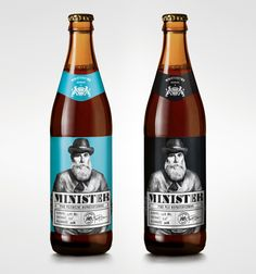 Minister is a private label of Ministry of Brewery – beer shop in Poznan, Poland. Beverage Packaging, Bottle Packaging, Design Da Garrafa, Craft Beer Labels, Beer Club, Beer Label Design, Beer Shop, Beer Brands, Wine And Beer