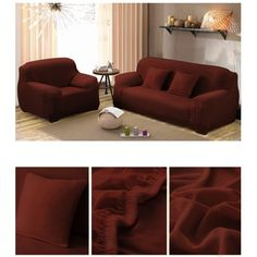 Couch Sofa Slipcovers,Home Full Stretch Lightweight Elastic Fabric Soft Couch Covers Sofa Protector,Fit Many European Home Decor, Indian Home Decor, Diy Home Decor, Couch Furniture, Furniture Covers, Couch Sofa, Orange Couch, Sofa Protector, Couch Covers