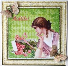 Gallery - I opened the lighter green file from the Spring Distressed Damask Square Digital Background set into my ph. Damask, Handmade Cards, Lighter, Ph, Digital, Gallery, Spring, Frame, Green