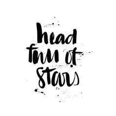 ✨✨✨ #stars #type #typedesign #typography #handmadefont #goodtype #headfullofstars #instadaily #design #followme #graphicdesign #designer #picoftheday #lettering #brush #brushlettering #splatter #ink #paint #font #letters #print #commdesign #annaelizabethdesign #thedailytype #thedesigntip