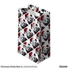 Christmas Panda Bear Small Gift Bag