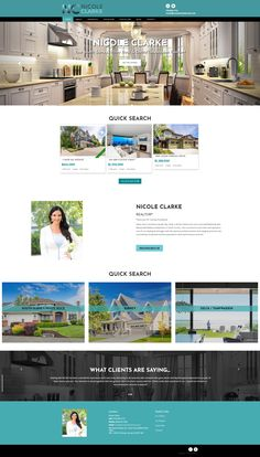 New website for Realtor Nicole Clarke. Uses the Ubertor CMS and is mobile-ready and responsive. Website Designs, Custom Design, Site Design, Website Layout, Web Design, Design Websites