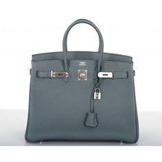 Hermès Blue Orage Togo 35cm Birkin Bag Palladium Hardware