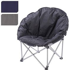 NEW PADDED FOLDING OUTDOOR CAMPING FESTIVAL BEACH GARDEN FISHING MOON CHAIR  SEAT (Blue) MOON