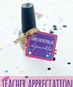 Teacher-appreciation gift ideas, nail polish gifts, free printables