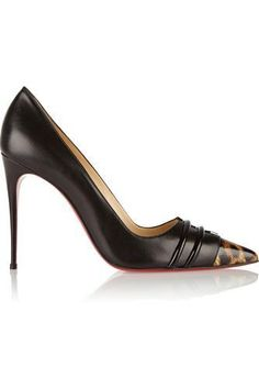 Front Double 100 leather pumps #shoes #covetme #christianlouboutin