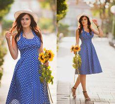 Get this look: http://lb.nu/look/7878364  More looks by Viktoriya Sener: http://lb.nu/viktoriyasener  Items in this look:  Dressin Dress, Asos Hat, Mango Sandals   #preppy #romantic #vintage