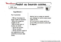 Poulet au boursin cuisine light façon WW 8PP (Cookeo) Courgettes Weight Watchers, Math, Foie Gras, Tupperware, Images, Light Recipes, Meat, Drinks, Thermomix