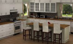 IKEA's SEKTION is perfect for creating Emily Thorne's beautiful, all-white traditional kitchen from the TV show Revenge. (KROKTORP doors are called HITTARP in SEKTION).