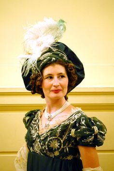 Turban and gown front Regency Gown Project   Wearing History