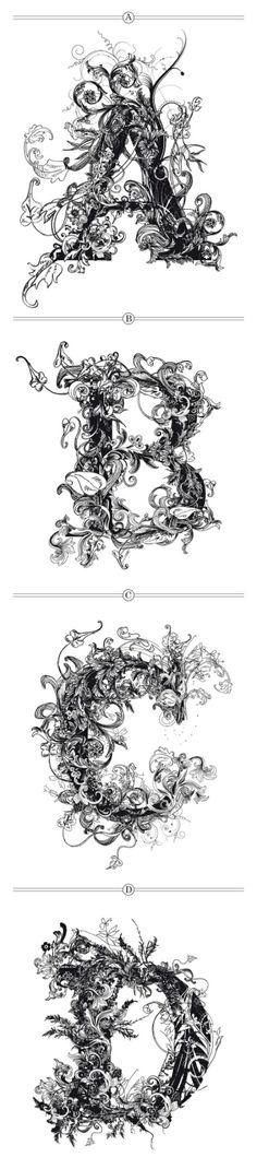 BRUSHWOOD ... amazing typography.  By cmyk