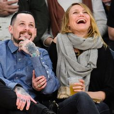 Pin for Later: Cameron Diaz and Benji Madden Totally Got Caught on the Kiss Cam!