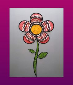 Flower 16 x 20 in. Canvas #LiteralPopArt #PopArt #Art #Flowers #Petals #Nature #Garden Organic #Green #GoingGreen #Watermelon #Pink #Purple #Red #FadeOut #MultiColorPetals #MichaelCrayola #2017