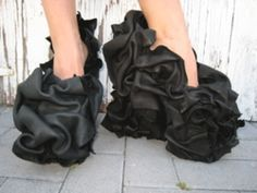 Black ruffle pumps - Find 150+ Top Online Shoe Stores via http://AmericasMall.com/categories/shoes.html