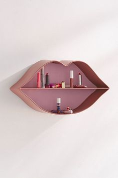Shop Lips Shelf at Urban Outfitters today. We carry all the latest styles, colours and brands for you to choose from right here. Gold Bedroom, Bedroom Decor, Wall Decor, Cheap Home Decor, Diy Home Decor, Schönheitssalon Design, Deco Rose, Cardboard Box Crafts, Beauty Salon Decor