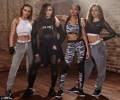 Mix hit the gym as they launch debut fitness range Little Mix have had to get used to people commenting on their weight and appearance, and s.Little Mix have had to get used to people commenting on their weight and appearance, and s. Little Mix Outfits, Little Mix Girls, Little Mix Style, Girl Outfits, Hip Hop Dance Outfits, Jesy Nelson, Perrie Edwards, Dvb Dresden, Baile Hip Hop