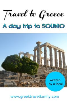 A day trip to Sounio is an excellent choice. You can visit the archaelogical site, the Temple of the Poseidon and have a walk at Lavrio. Attica Greece, Athens Greece, Greek Sites, In Ancient Times, Archaeological Site, Greece Travel, Greek Islands, Day Trips, Cool Places To Visit