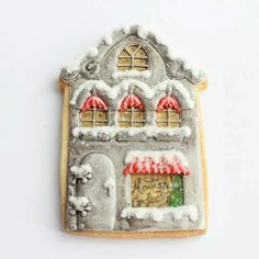 Montreal Confections: Gingerbread house - I think this is the prettiest cookie I have ever seen!