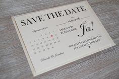 Einladungskarten - Save the Date Hochzeit Vintage creme Einladung - ein Designerstück von Velvet-Design bei DaWanda