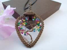 Tree of life pendant wire wrapped pendant by KTGemstoneCreations