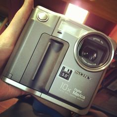 When digital cameras stored pictures on a floppy disk - the Sony Mavica