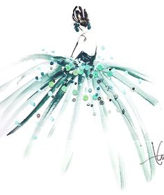 5 minute Ladies in shades of winter mint by Katie Rodgers aka Paper Fashion