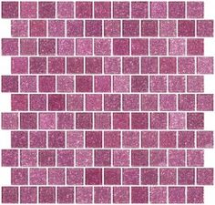 1 Inch Barbie Pink Glitter Glass Tile Reset In Offset Layout