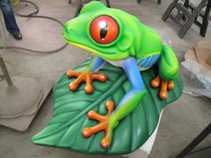 Our tree frog in our warehouse.