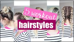 Needing some cute workout hairstyles to wear to the gym? Come checkout my favorites + a few tips on keeping your curls through your sweat sesh! Heatless Hairstyles, Workout Hairstyles, Fast Hairstyles, Baddie Hairstyles, Trendy Hairstyles, Braided Hairstyles, Best Wigs, Professional Hairstyles, Hair Hacks