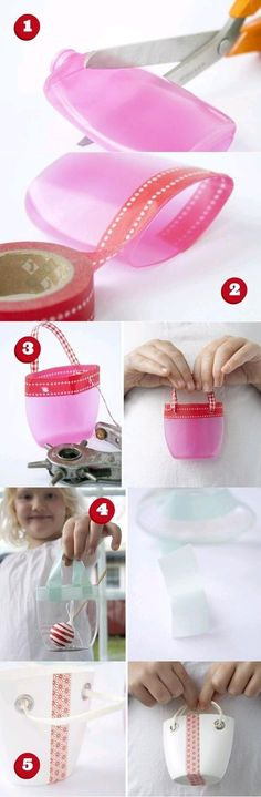 DIY Shampoo Bottle Little Basket DIY Projects / UsefulDIY.com