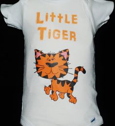 Baby Onsie Toddler Tee Free Shipping Tiger White Baby by Zedezign