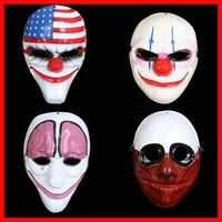 Wish | 4Pcs Payday 2 Anonymous Mask Dallas/Wolf/Chains/Hoxton Cosplay Halloween Horror Clown Mask