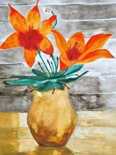 Liliom Pop Art, Painting, Painting Art, Paintings, Painted Canvas, Art Pop, Drawings
