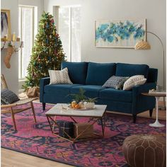 Get inspired by Modern Living Room Design photo by Wayfair. Wayfair lets you find the designer products in the photo and get ideas from thousands of other Modern Living Room Design photos. Blue Couch Living Room, Colourful Living Room, Boho Living Room, Living Room Furniture, Living Room Decor, Living Rooms, Morrocan Decor, Interior Exterior, Interior Design