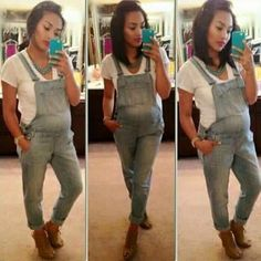 Oh my gosh I want maternity overalls! Spring Maternity, Cute Maternity Outfits, Maternity Wear, Maternity Fashion, Cute Outfits, Maternity Style, Pregnancy Wardrobe, Pregnancy Outfits, Pregnancy Fashion