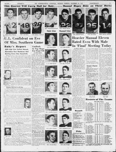 The Courier-Journal, Thanksgiving Male - Manual football game Nov. 24, 1949