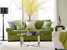 Resultado de imagem para sofás com almofadas verdes