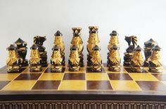 Chess Wooden chess set chess board with wooden chess pieces